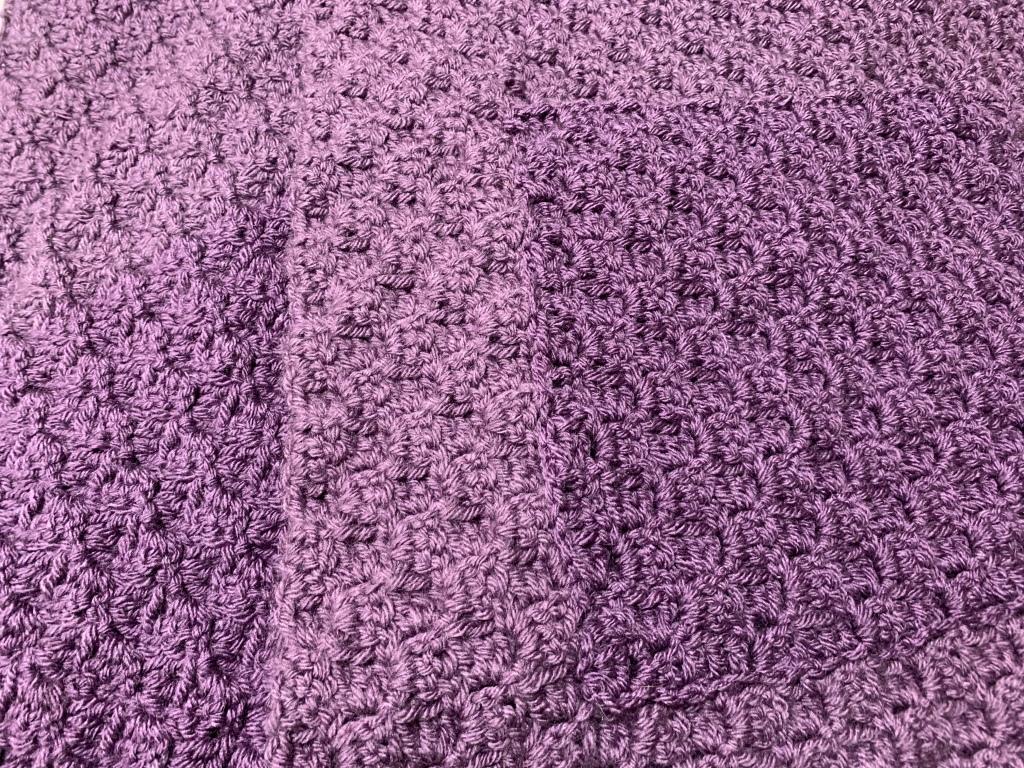 crochet, c2c, shawl, pocket shawl, c2c pocket shawl, vannas choice, lion brand yarn, purple yarn, knit, hook, clover, c2c pocket shawl, warm shawl, crochet shawl