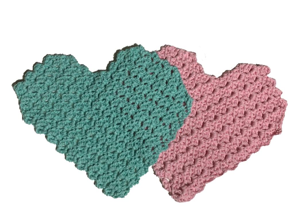 crochet dishcloth, dishcloth, cotton yarn, crochet, c2c, mini c2c